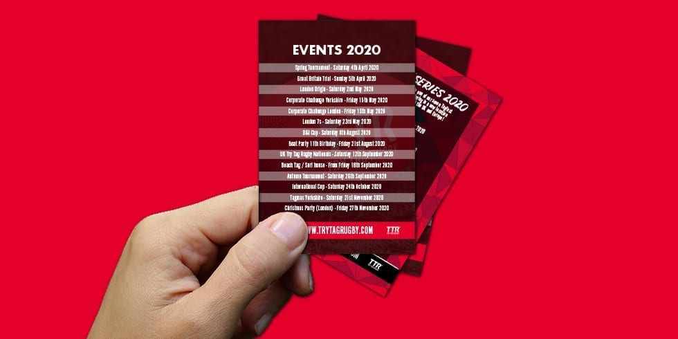 Events calendar 2020 launched