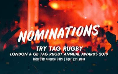 Nominations open for the Try Tag Rugby London & GB Tag Rugby Annual Awards