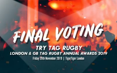 Voting now open for Try Tag Rugby London & GB Tag Rugby Annual Awards